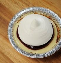 House-made graham crust, lime custard, raspberry jam and whipped cream